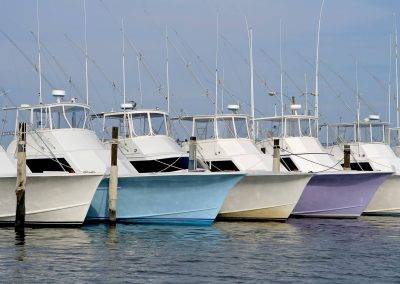 Boats services in a marina